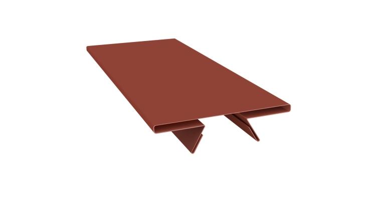 Планка стыковочная составная верхняя 0,5 Satin с пленкой RAL 8004