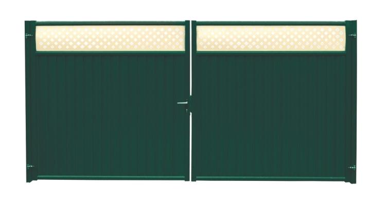 Ворота Премиум Плюс 2,0х3,6 RAL 6005/1014