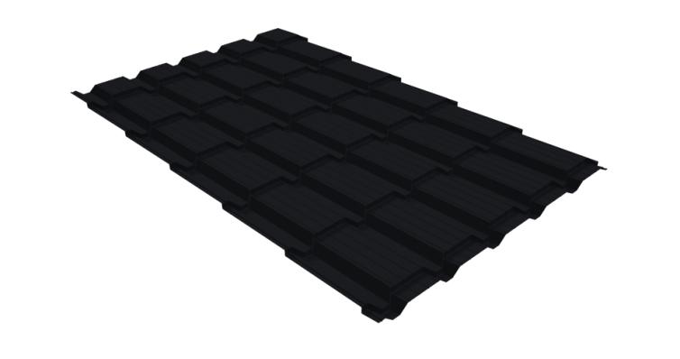 Металлочерепица квадро GL 0,5 Quarzit lite RAL 9005
