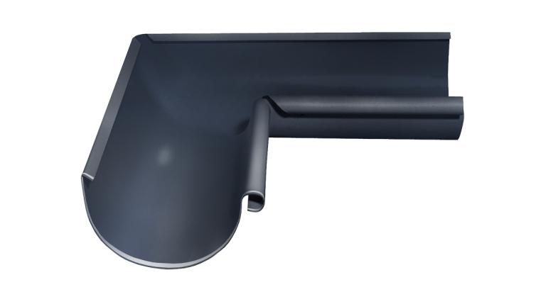 Угол желоба внутренний, 90 гр,125 мм RAL 7024