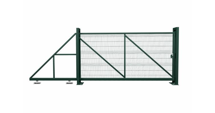 Ворота откатные Profi RAL 6005 влево