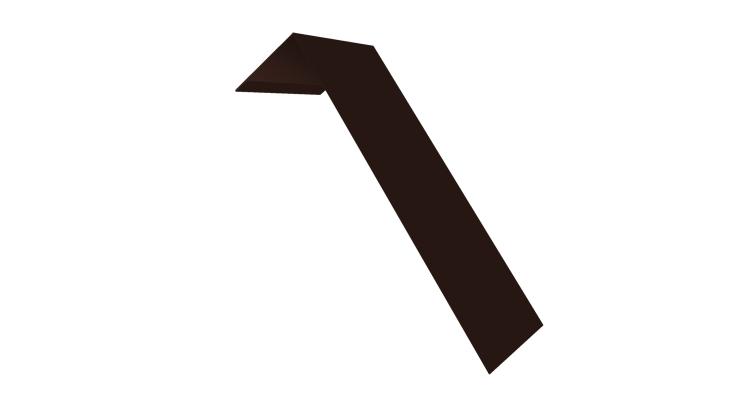 Планка лобовая/околооконная простая 190х50 0,5 Quarzit lite с пленкой RAL 8017