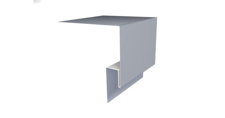 Планка околооконная сложная Блок-хаус GL 250х75 0,45 PE с пленкой RAL 9006