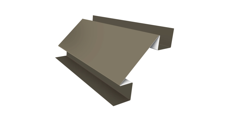 Угол внутренний сложный 75мм 0,5 Satin с пленкой RAL 1015