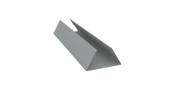 Планка стыковочная составная нижняя 0,45 PE с пленкой RAL 7005