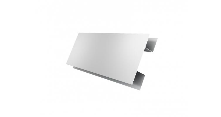 Планка H-образная 0,45 PE с пленкой RAL 9003 сигнальный белый