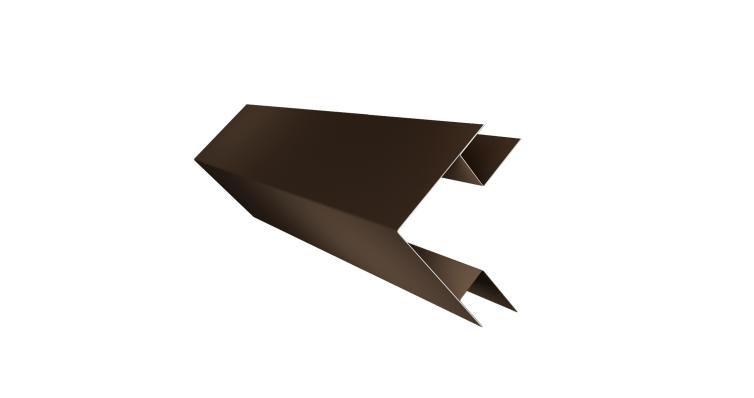 Угол внешний сложный 75х75 0,45 PE с пленкой RR 32 темно-коричневый