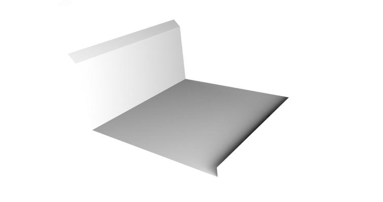 Планка примыкания нижняя 20х122х260х15 0,45 PE с пленкой RAL 9003