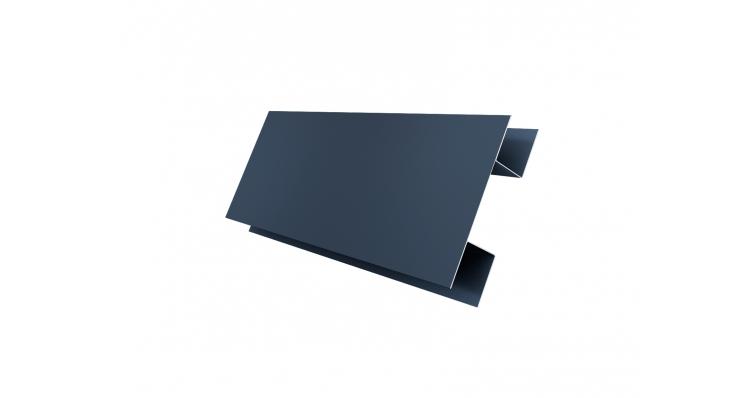 Планка H-образная 0,45 PE с пленкой RAL 7024 мокрый асфальт