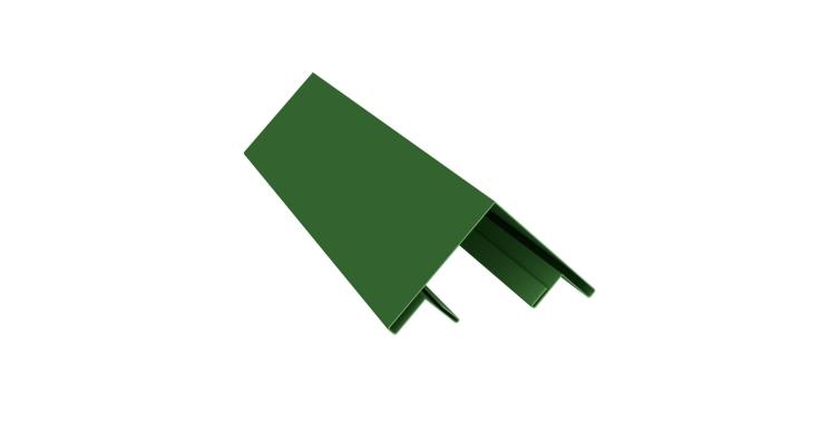 Планка угла внешнего составная верхняя 0,45 PE с пленкой RAL 6002