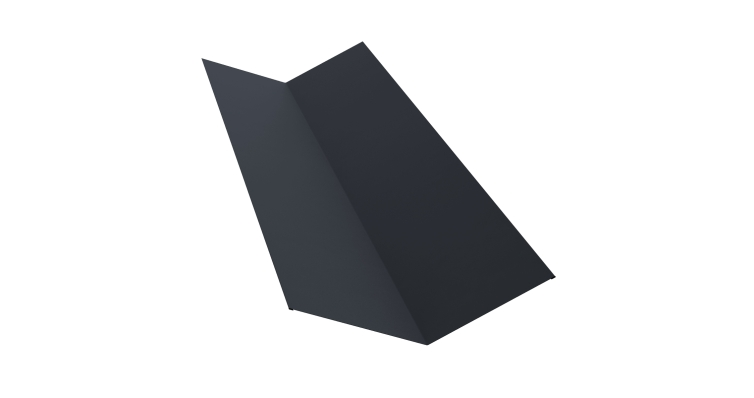 Планка ендовы верхней 145х145 0,5 Quarzit lite с пленкой RAL 7024