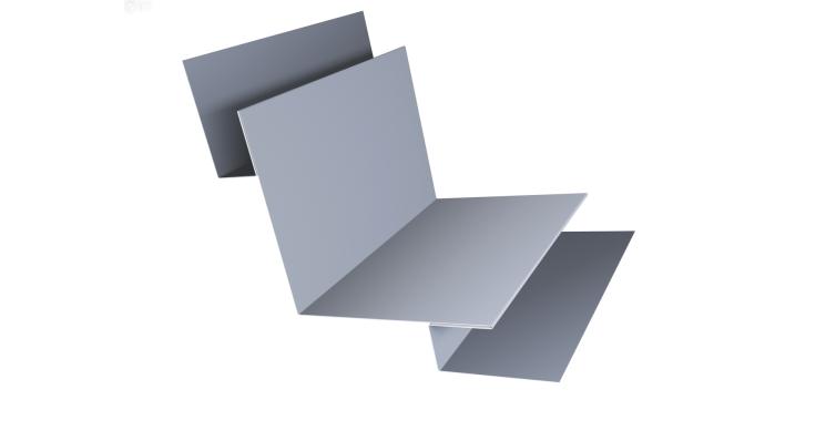 Угол внутренний сложный 75х75 0,5 Satin с пленкой RAL 9006