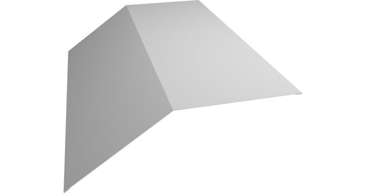 Планка конька плоского 145х145 0,5 Satin с пленкой RAL 9003