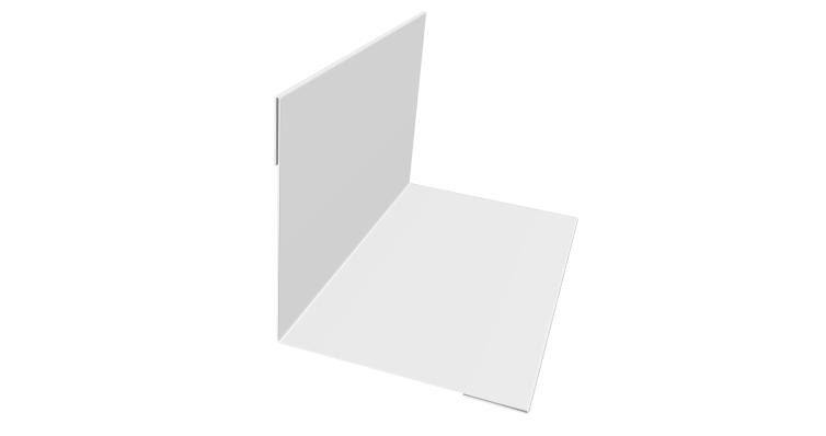 Планка угла внутреннего 110х110 0,4 PE с пленкой RAL 9003 сигнальный белый
