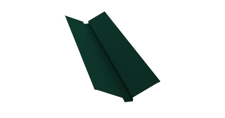 Планка ендовы верхней 115х30х115 0,5 Satin с пленкой RAL 6005