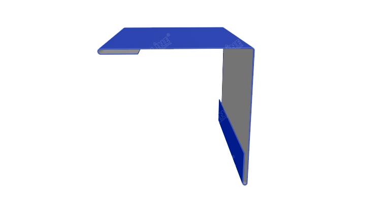 Угол внешний 50х50 0,45 PE с пленкой RAL 5002 ультрамариново-синий