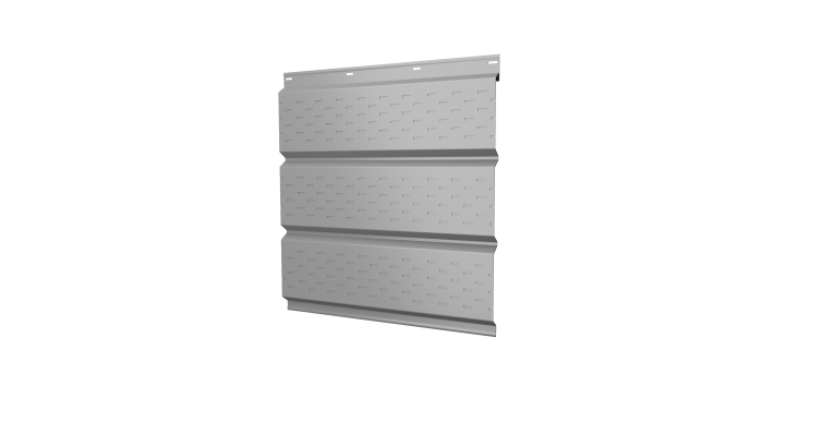 Софит металлический полная перфорация 0,5 Satin с пленкой RAL 9003