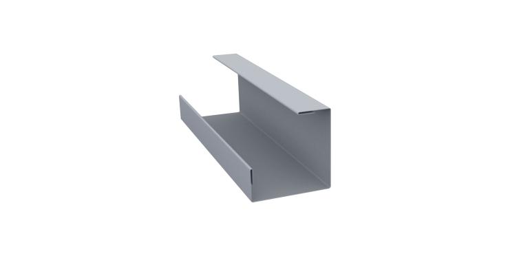 Планка угла внутреннего составная нижняя 0,45 PE с пленкой RAL 9006