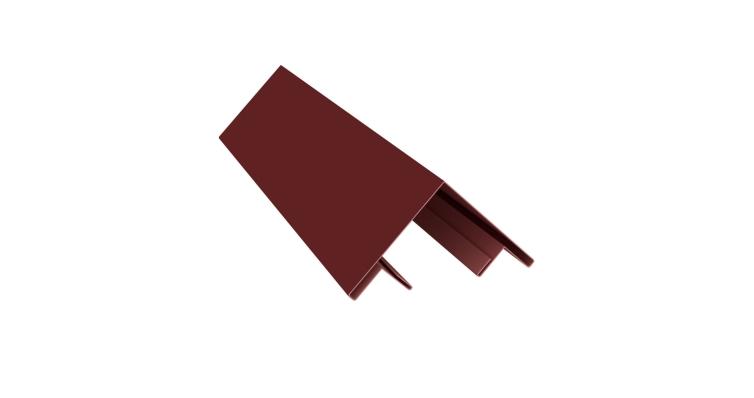 Планка угла внешнего составная верхняя 0,5 Satin с пленкой RAL 3009