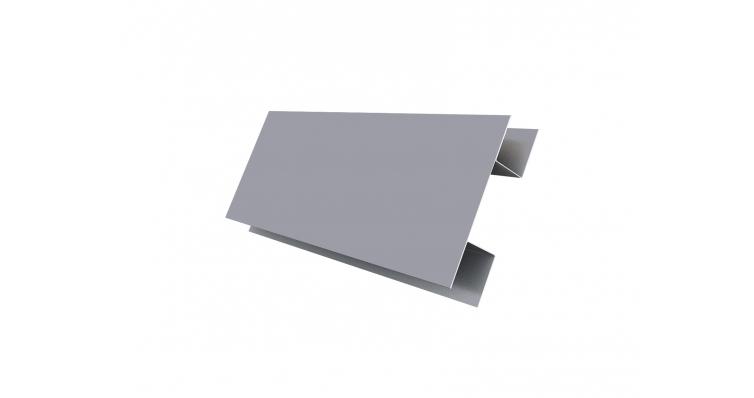 Планка H-образная 0,45 PE с пленкой RAL 7004 сигнальный серый