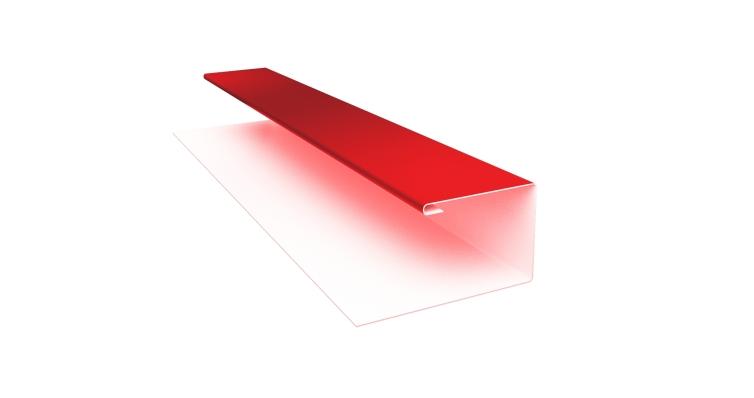 Планка П-образная 0,45 PE с пленкой RAL 3003 рубиново-красный