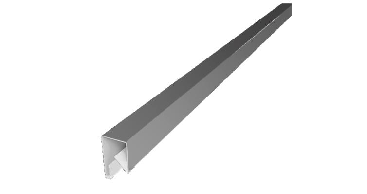 Планка П-образная заборная 17 0,45 PE с пленкой RAL 9003