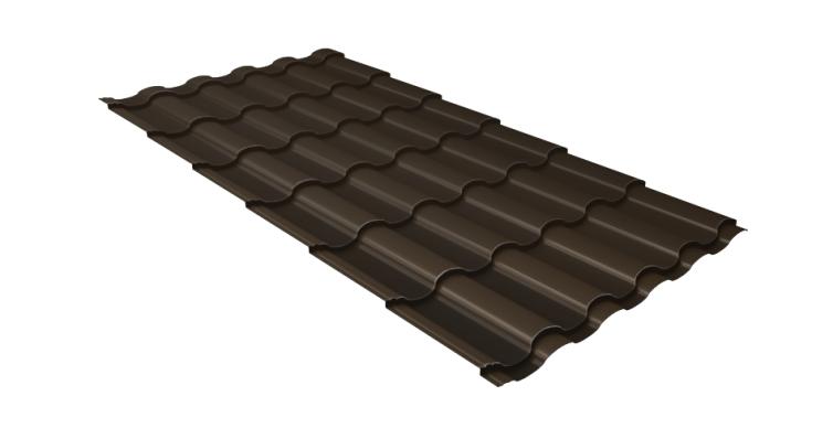 Металлочерепица кредо Grand Line 0,5 Velur20 RR 32 темно-коричневый
