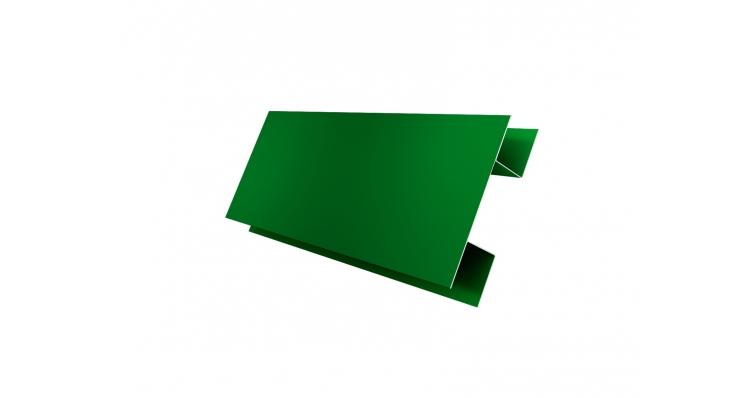 Планка H-образная 0,45 PE с пленкой RAL 6002 лиственно-зеленый