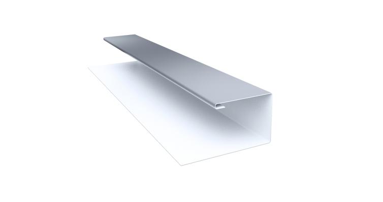 Планка П-образная 0,45 PE с пленкой RAL 9006 бело-алюминиевый