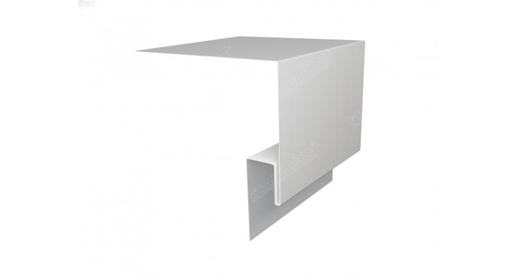 Планка околооконная сложная 250х50 (j-фаска) 0,45 PE с пленкой RAL 9003