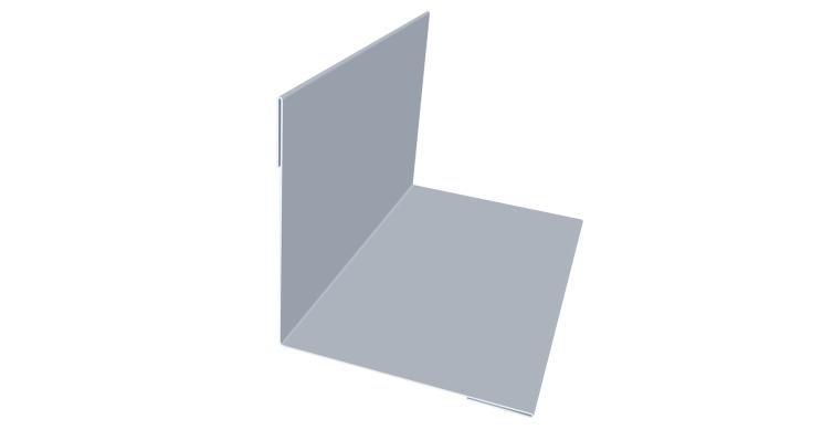 Угол внутренний 50х50 0,45 PE с пленкой 9006 бело-алюминиевый