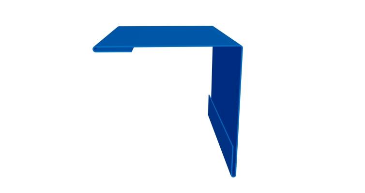 Планка угла внешнего 110х110 0,4 PE с пленкой RAL 5005 сигнальный синий