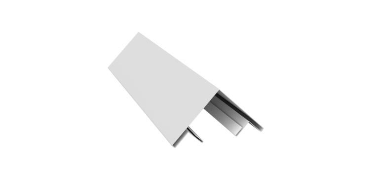 Планка угла внешнего составная верхняя 0,45 PE с пленкой RAL 9003