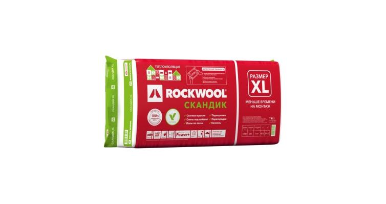 Утеплитель RockWool Лайт Баттс Скандик XL 1200x600x100 (0,432м2/4,32м2)