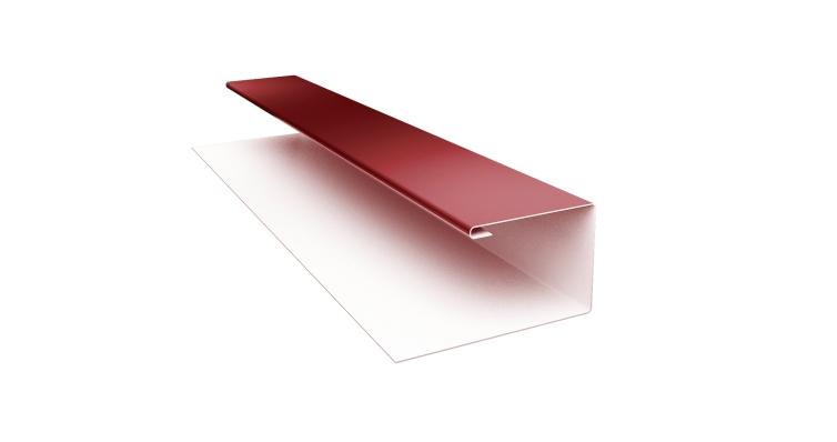 Планка П-образная Блок-хаус 0,5 Satin с пленкой RAL 3009