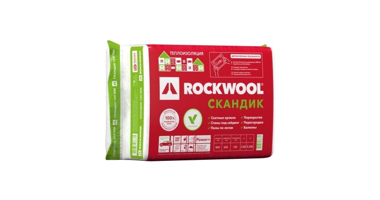Утеплитель RockWool Лайт Баттс Скандик 800х600х100 (0,288м3)