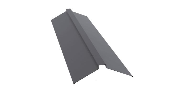 Планка конька плоского 150х40х150 0,7 PE с пленкой RAL 7004