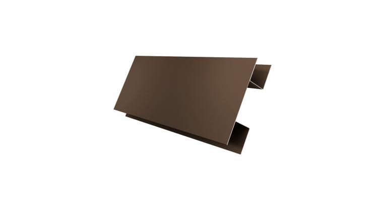Планка H-образная 0,45 PE с пленкой RR 32 темно-коричневый