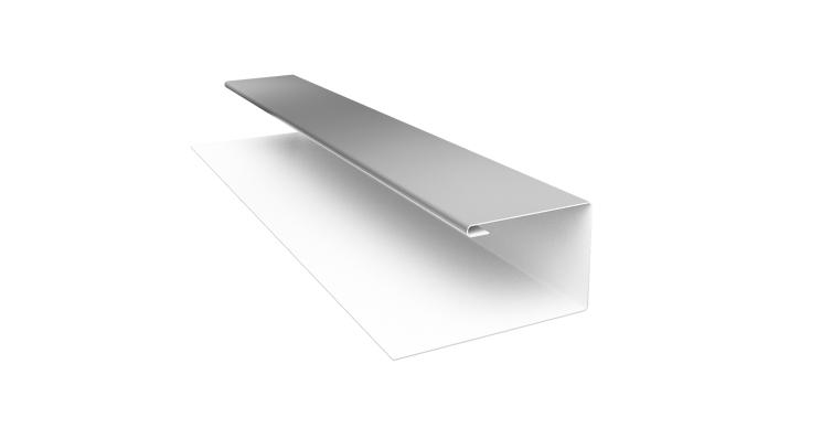 Планка П-образная Блок-хаус 0,5 Satin с пленкой RAL 9003
