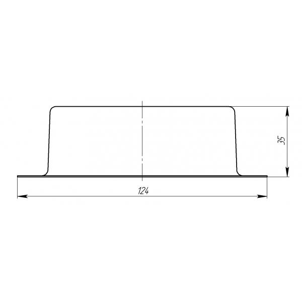 Воронка врезная 127мм