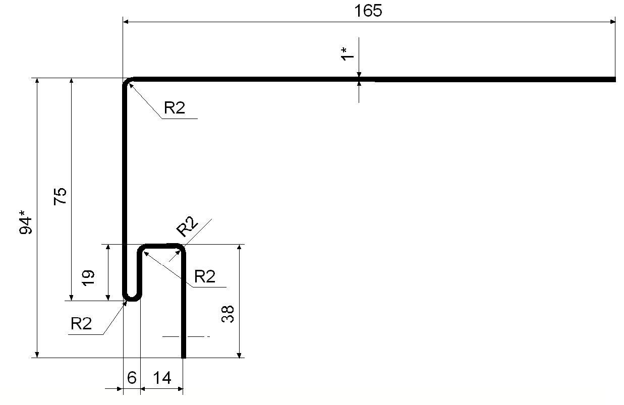 Приоконная планка GL Коричневая 3,0м