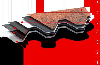 Структура материала мягкая черепица Икопал