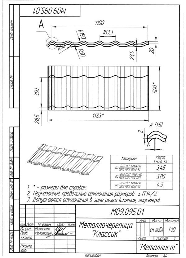 Инструкция по монтажу металлочерепица скачать