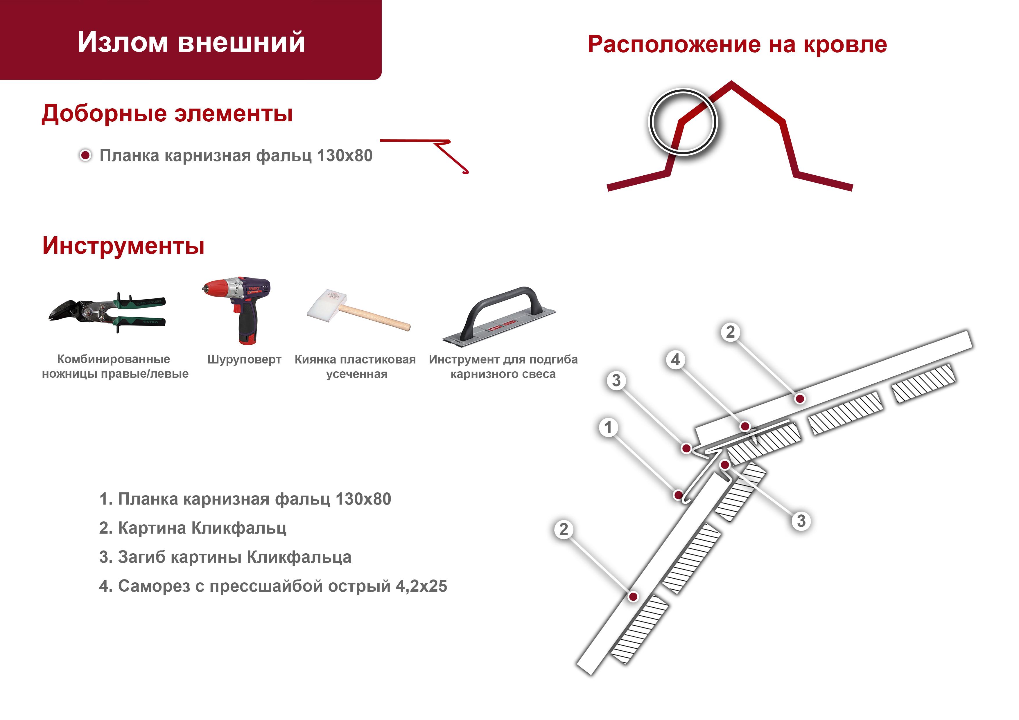монтаж кликфальц инструкция