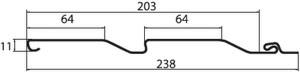 korabelnyi brus slim chertezh - Сайдинг Grand Line Корабельный брус слим Карамельный (премиум цвет)