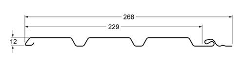 classic slim chertezh - Софит Grand Line Классика слим Коричневый с частичной перфорацией